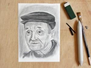 portret carbune