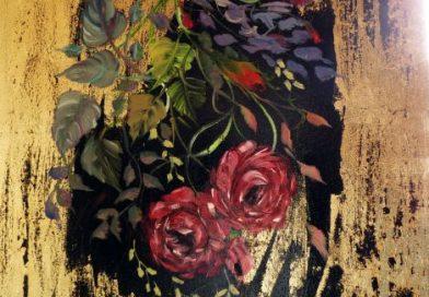 Trandafiri (foita de aur)