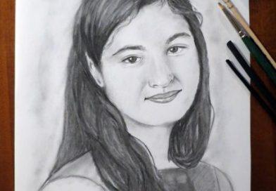Portret in carbune