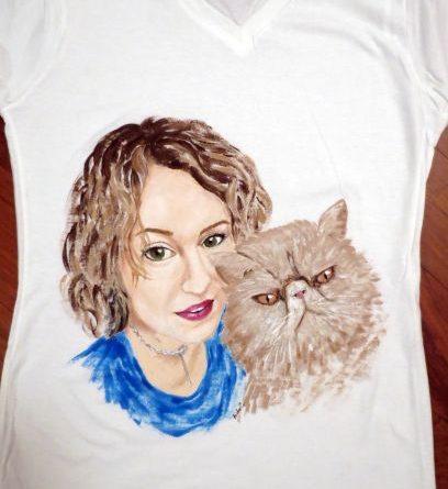 Portret cu pisica persana
